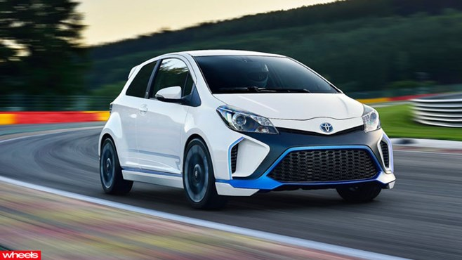 Meet the world's most powerful Toyota city car – the 313kW Hybrid-R concept.