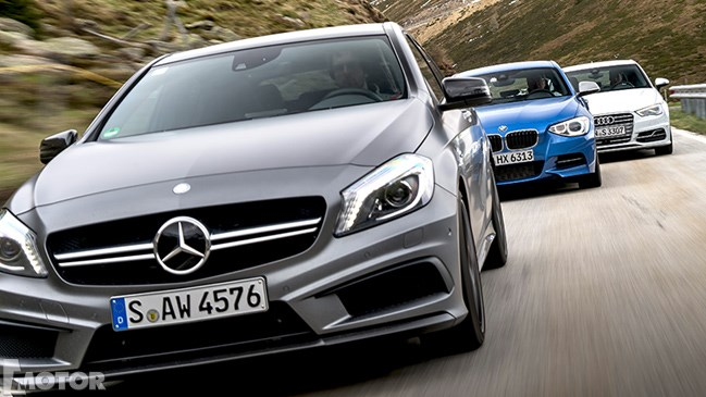 Audi S3 vs BMW M135i vs Mercedes A45 AMG: 2013 Review