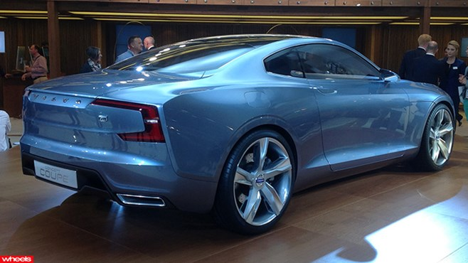 Volvo's new C Coupe concept with its spiritual ancestor above.