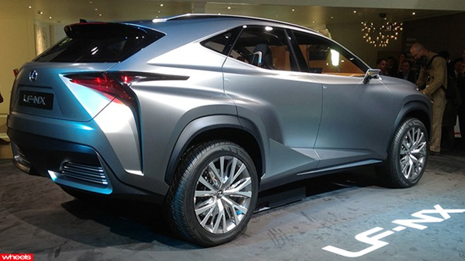 Angular, sharp design characterises the Lexus LF-NX which is aimed at younger buyers.