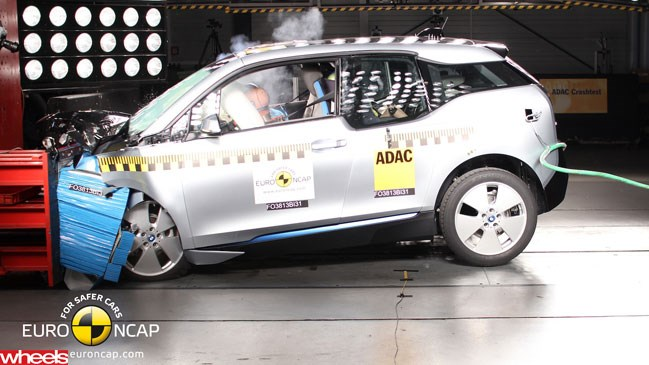Wheels magazine, BMW, i3, Euro NCAP, safety, system, criticise