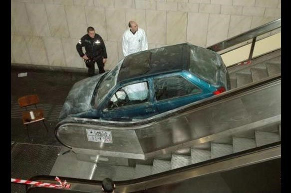 Car on an Escalator