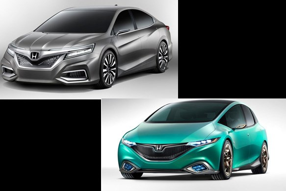 Honda Concept C and Concept S