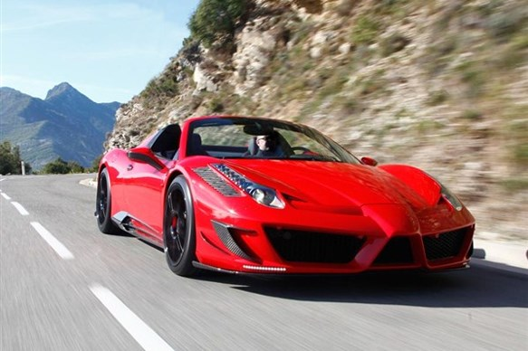 How fast is the Mansory Ferrari 458 Spider Monaco Edition?