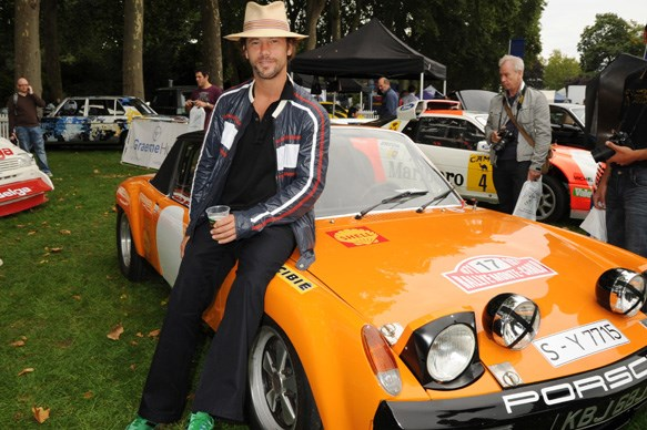 Jay Kay with his Porsche GT3