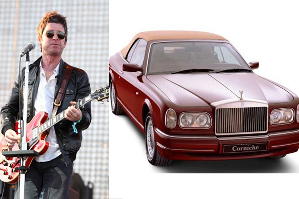 Noel Gallagher and his Rolls Royce