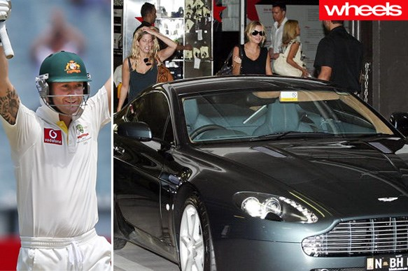 cricket stars and their cars michael clarke wheels