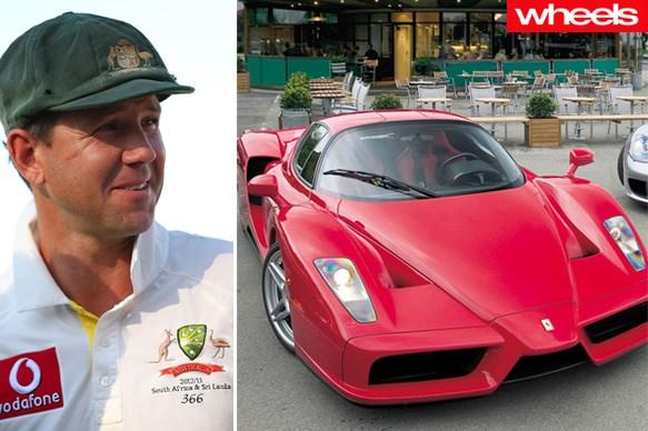 photo of Ricky Ponting Ferari - car