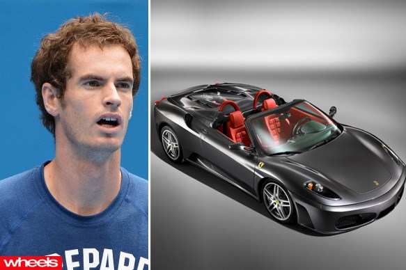 Andy Murray - Ferrari F430 Spider