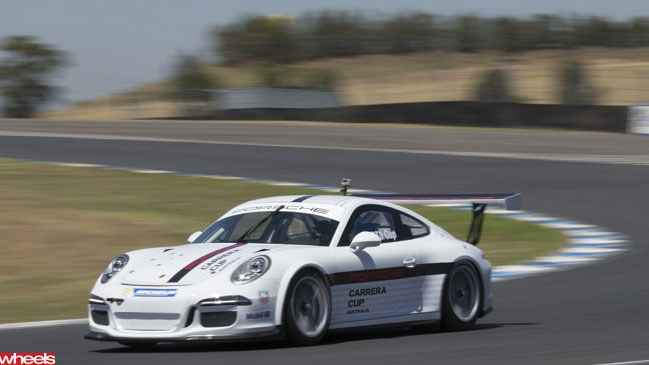 Wheels magazine, first drive, Porsche 911, 911 cup car, motorsport, 991 cup