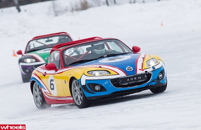 Mazda ice racing in Siberia
