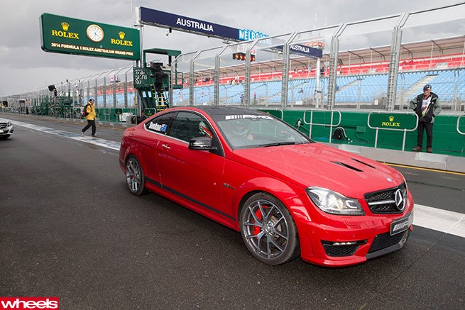 A hot lap with Mick Doohan in a Mercedes-Benz C63 AMG 507