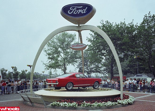 1964 World's Fair Mustang debut
