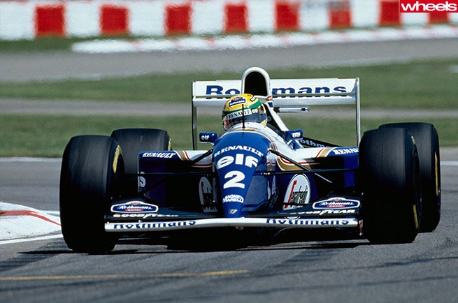 Ayrton Senna in Williams-Renault FW16 at Imola