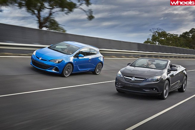 Holden Astra and Cascada