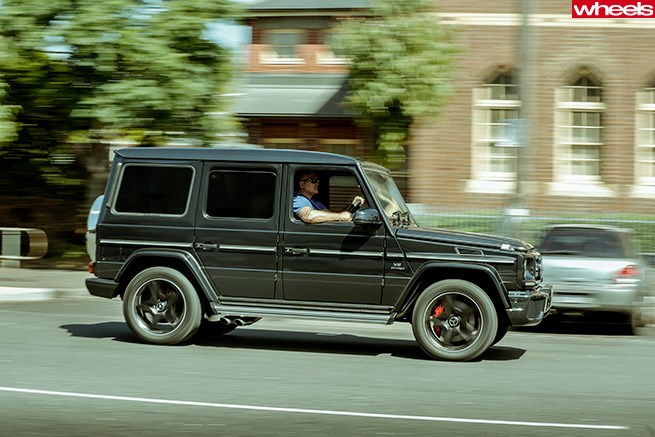Mick Gatto tests Mercedes-Benz G63 AMG for Wheels magazine