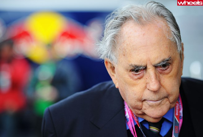 Sir Jack Brabham at the Australian F1GP on March 26, 2011