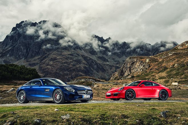 Porsche 911 GTS vs Mercedes-AMG GT S review test drive