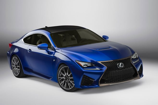 Front view of Lexus RC F