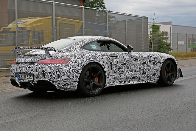 Mercedes-AMG GT Black Series mule spotted