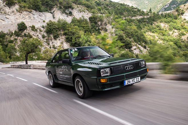 Audi Sport Quattro in the Alps