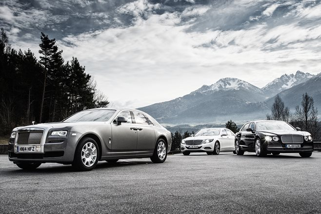 Mercedes-Benz S600 vs Rolls-Royce Ghost vs Bentley Flying Spur