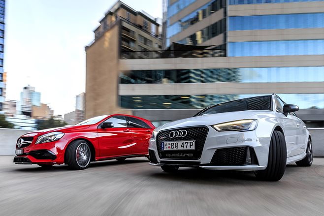 Audi RS3 vs Mercedes-AMG A45