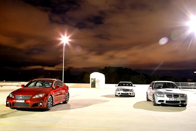 Lexus IS F vs Mercedes-AMG C63 vs BMW M3