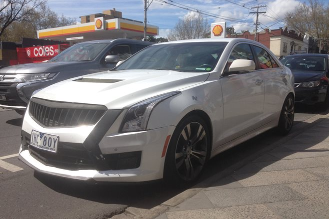 Cadillac ATS-V caught testing in Australia