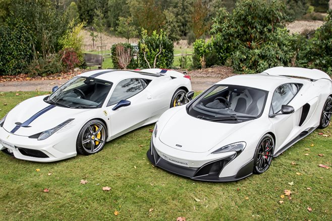 Ferrari 458 Speciale and McLaren 675LT for sale as stunning combo