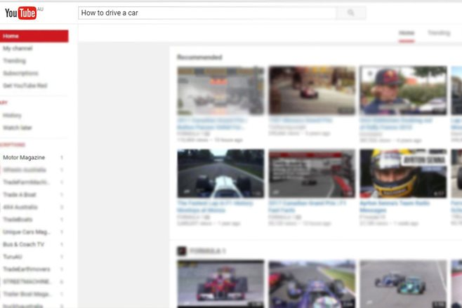Can YouTube teach you how to drive