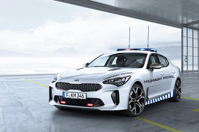 Kia Stinger GT Highway Patrol car