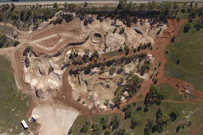 Tailem Bend Motorsport Park aerial in July