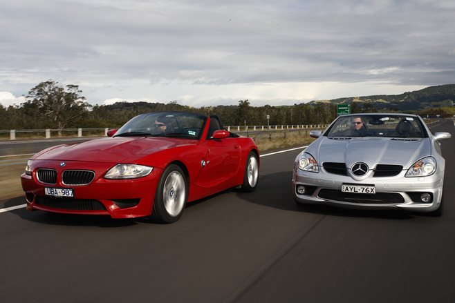 BMW Z4M v Mercedes Benz SLK 55