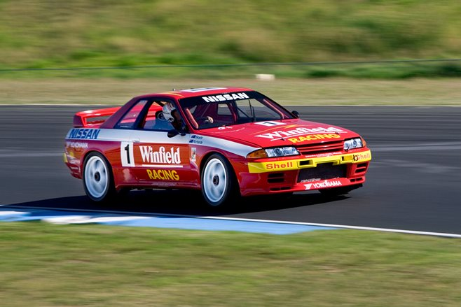 Group A Nissan R32 Skyline GTR racetrack