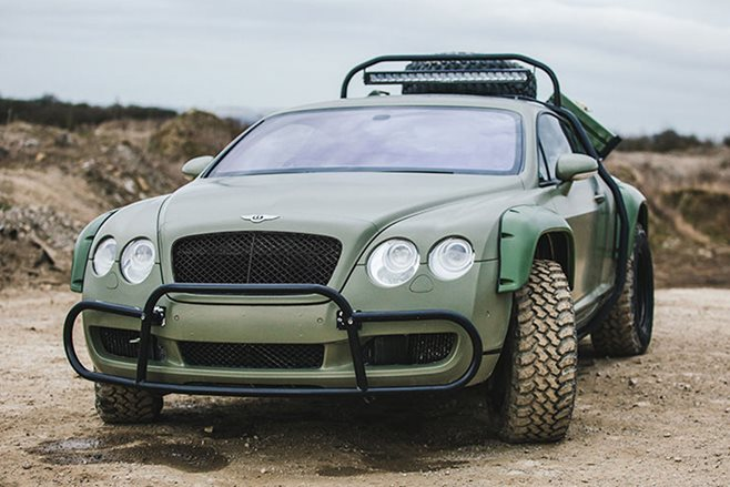 Bentley Continental GT rally car