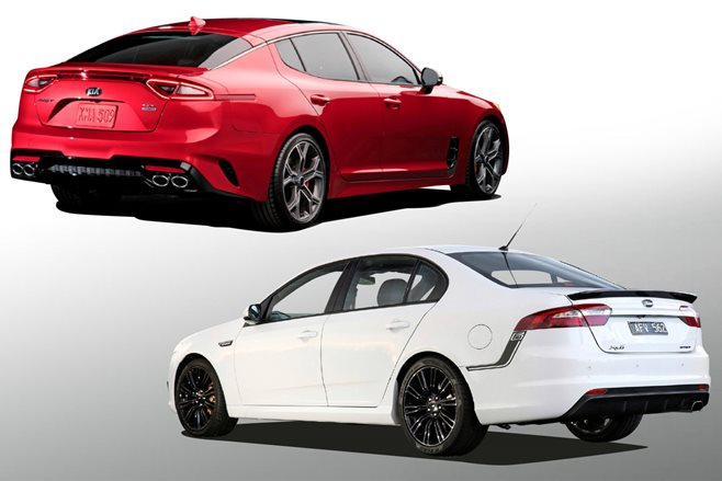 2016 Kia Stinger GT vs 2016 Ford Falcon XR6T main