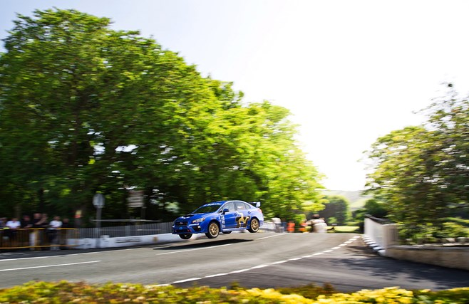 Subaru WRX Isle of Man TT record