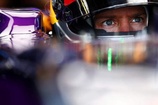 Sebastian Vettel at British GP