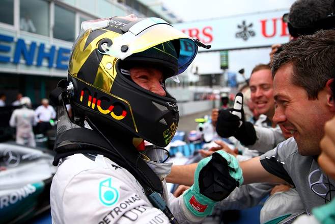 Nico Rosberg wins German F1GP