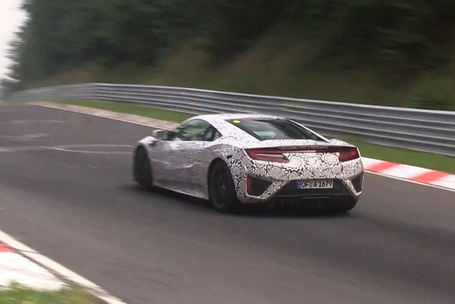 2015 Honda NSX testing twin turbo V6