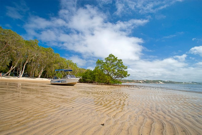 Boat on Elim Beach in Queensland