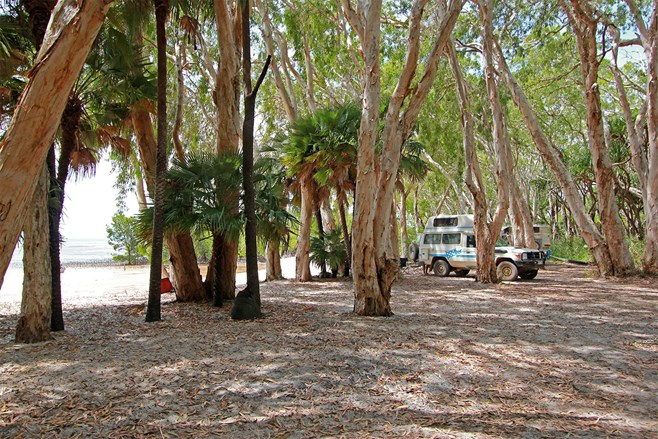 Campground at Elim Beach