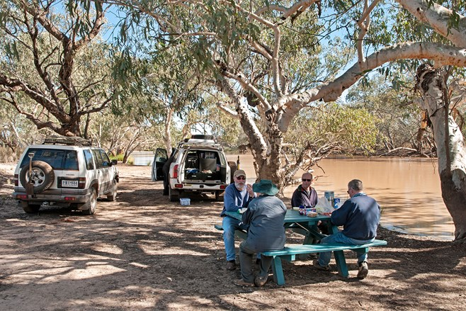 Lunch by the Paroo River