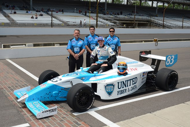 Matthew Brabham and his Indy Lights car