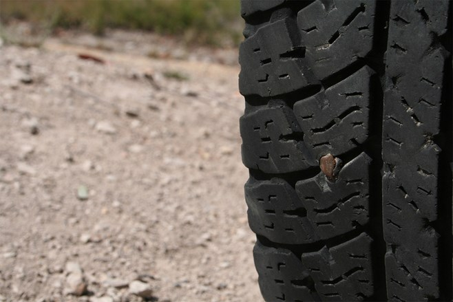 tyre puncture