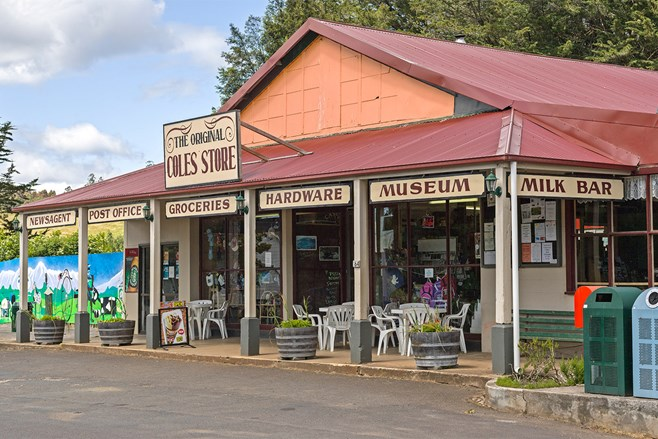 The original GJ Coles store in Wilmot, Tasmania