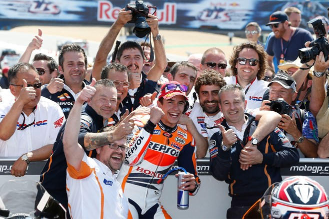 Marquez makes it 10 MotoGP wins in a row