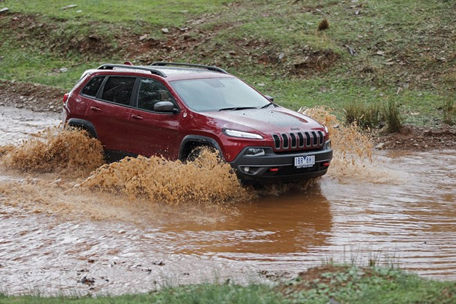 Jeep KL Cherokee Trailhawk river