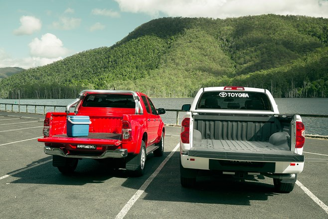 Toyota Tundra and Toyota Hilux utes